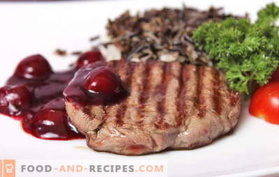 Месо с череша - на масата няма да е излишно! Месни рецепти с череши: в тиган, ръкав, фолио, под печена шунка и на малки парченца