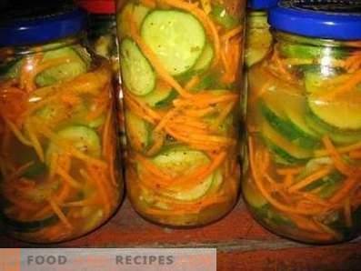 Solata iz zaraščenih kumaric za zimo