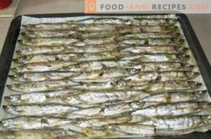Capelin baked in the oven
