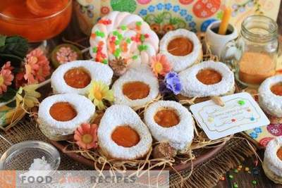 Easter Egg Cottage Cheese Cookies with Apricot Jam