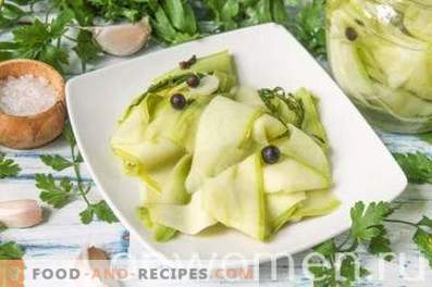 Schnell marinierte Zucchini