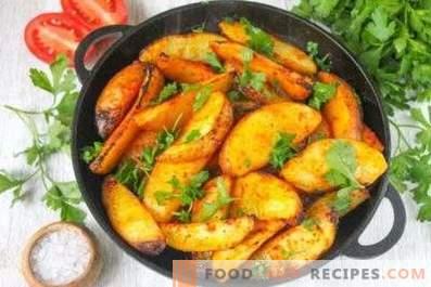 На каква температура да се пекат картофите