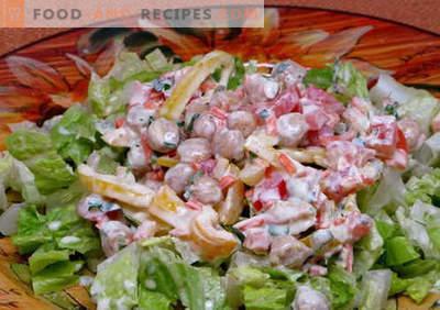 Salade met yoghurt - de beste culinaire recepten. Hoe maak je een salade op een goede en heerlijke manier klaar met yoghurt.